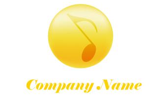 音符、音楽、黄色、円形、球体、立体、明るさ、元気