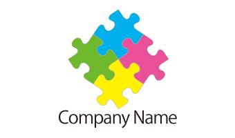 パズルピース、多色、インク、組み合わせ、結合、結束、チームワーク