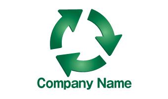 矢印、ループ、リサイクル、エコ、クリーン、グリーン、環境