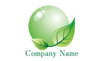 グリーン、エコ、葉、球体、輝き、キュア、ケア、緑、豊かさ