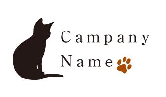 ネコ、シルエット、手形、動物、キュート、シンプル