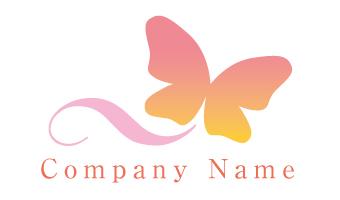 蝶、グラデーション、美容、飛翔、漂う