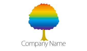 木、グラデーション、植物、虹色、自然、クリーン、エコ