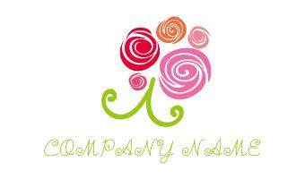 花、バラ、花束、渦、記念、お祝い